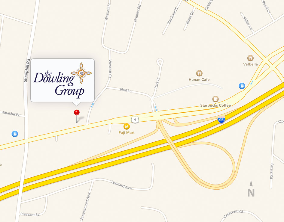 map showing The Dowling Group offices